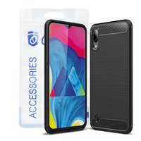 Ozone - Samsung Galaxy M10 Mobile Cover Carbon Brush...