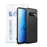 Ozone - Galaxy S10 Plus Mobile Cover Carbon Fiber Se...