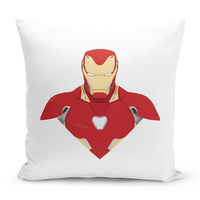 Loud Universe - Jarvis White Throw Pillow with Stuff...