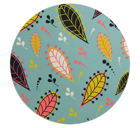 Loud Universe - Mouse Pad Round Nature Leaves Print ...