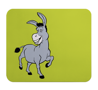 Loud Universe - Mouse Pad Rectangular Donkey Cute Gr...
