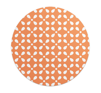 Loud Universe - Mouse Pad Round Orange Motif With Wh...