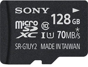 Sony SRG1UY2A UHS1 Micro SDXC 70mb/s Memory Card Class 10 128GB