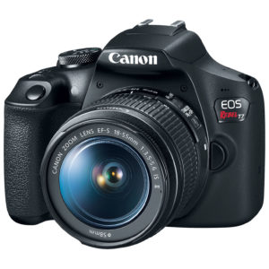 Canon EOS Rebel T7/2000D DSLR Camera Black With 18-55mm IS II Lens Kit