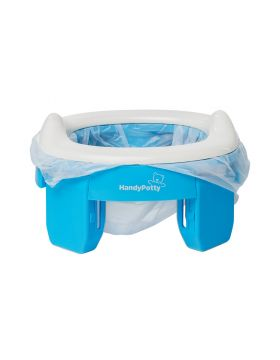Roxy Kids-3 in 1 Handy Potty with Re-Usable Liner - Blue/Blue