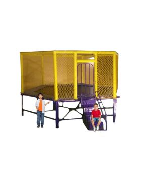 Myts Flipout Bounce Kids Trampoline 10 feet for outdoor with extra safety