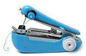Sewing Machines 1pc Hot Selling Useful Portable Needlework Cordless Mini Hand-Held Clothes Fabrics Sewing Machine MJZCUICAN (Color : Blue