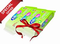 All Day Antibacterial Wet Wipes 72 pcs (Pack of 3)...