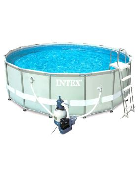 Intex Round Ultra Frame Premium Pool Set With Sand Filter Pump - 549 132 CM