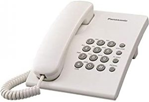 Panasonic Corded Telephone - White Kx-Ts500