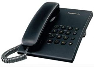 Panasonic KX-TS500MXBD Single Line Corded Phone (Black)