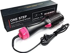 With Box US One Step Hair Dryers And Volumizer Blower Professional 2-in-1 Hair Dryers Hot Brush Blow Drier Hairbrush Styling Tools Styler