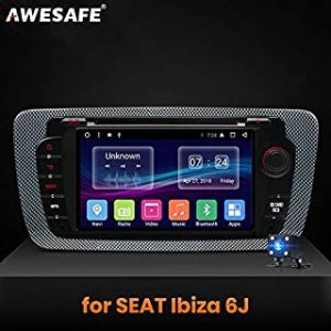 Car Multimedia Player - 2 Din Android Car Radio Multimedia Video Player GPS Navigation for Seat Ibiza MK4 6J 2009 2010-2013 DVD (With Rear Camera)