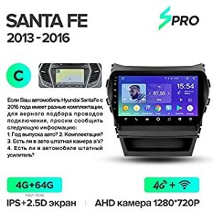 Car Multimedia Player - SPRO Car Radio Multimedia no 2 din android Video Player Navigation GPS For Hyundai Santa Fe 3 Grand 2013-2017 (Santa Fe SPRO 64G C)