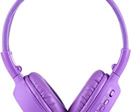 WXX BS-N65 Headband Folding Stereo HiFi Wireless Headphone Headset with LCD Screen & TF Card Slot & LED Indicator Light & FM Function(Black) (Color : Purple)