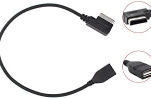 Car Music Interface MDI MMI MP3 USB Flash Drive AUX Adapter Cable Cord Compatible for Mercedes Benz CLS E SL CLA S Class