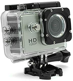 Sports Action Waterproof Camera 12 Megapixel Full HD Silver