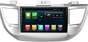 Android 8.1 Octa Core IPS Car Radio GPS Stereo Navi for Hyundai Tucson IX35 2015-2018 Head Unit In Dash Multimedia Video Player with Bluetooth WiFi BT Navigation (Android 8.1 4+64G Tucson IX35)