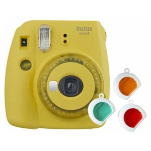 Fujifilm INSTAX Mini 9 Instant Film Camera Yellow With Clear Accents
