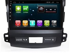 Android 8.1 IPS Car Radio GPS Stereo Navi for Mitsubishi Outlander 2006-2012 Head Unit In Dash Multimedia Video Player with Bluetooth WiFi BT Navigation (Android 8.1 1+16G Outlander)