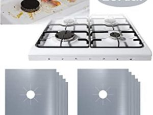 10Pcs Gas Stove Burner Covers 0.2mm Double Thickness Reusable Hob Range Protector Non Stick Clean Mat Pad for Kitchen - 27x27cm