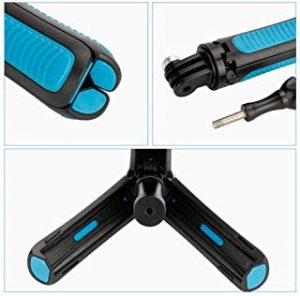OUYAWEI Portable For Mini Portable Extension Pole Handheld Self-Pole Shorty Go Pro Tripod Monopod Stick Mount for Gopro Action Cameras