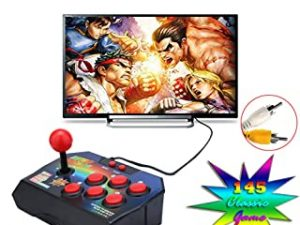 Retro Joystick 16 Bit Built-in 145 Arcade Game Console Players Stick Controller