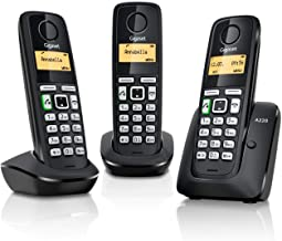 Gigaset A220 Trio Cordless Phone with 200 Hrs Standby