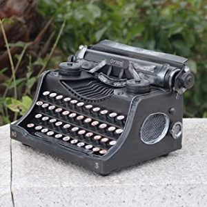 KUVV Crafts Antique Typewriter Iron Road Model Photography Retro Bar Storefront Software Installed Decoration 25 * 14 * 18cm