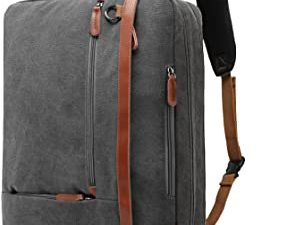 CoolBELL Convertible Backpack Shoulder bag Messenger Bag Laptop Case Business Briefcase Leisure Handbag Multi-functional Travel Rucksack Fits 17.3 Inch Laptop For Men/Women