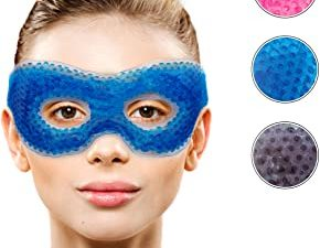 Gel Eye Mask with Eye Holes- Hot Cold Compress Pack Eye Therapy | Cooling Eye Mask for Puffy Eyes