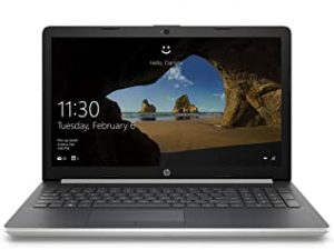 HP 15-da0000ne Laptop | 15.6 inch HD  | 7th Gen Intel Core i3-7020U | 1TB HDD | 4GB RAM | 8th Gen Intel HD-Graphics | DVD-RW | Windows 10 Home | Eng-Ara KB | Silver