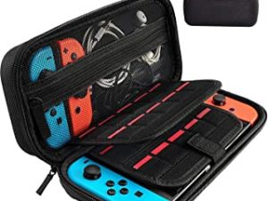 Switch Carrying Case compatible with Nintendo Switch - 20 Game Cartridges Protective Hard Shell Travel Carrying Case Pouch for Nintendo Switch Console & Accessories