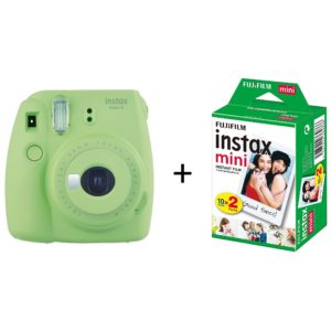 Fujifilm INSTAX Mini 9 Instant Film Camera Lime Green + 20 Mini Sheets