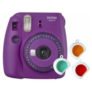 Fujifilm INSTAX Mini 9 Instant Film Camera Purple With Clear Accents