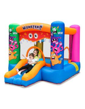 Myts Monster Inflatable Toddler Bounce House Kids Bouncy Castle Slide For Indoor Party