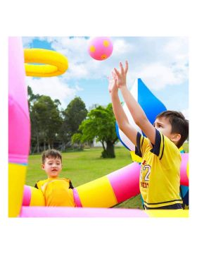 Myts Inflatable Toddler Bounce House Kids Bouncy Castle Slide For Indoor Party With Magical Design