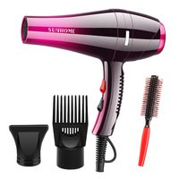 Sunhome Professional Hair Care Hair Dryer Red/black ...