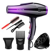 Sunhome Professional Hair Care Hair Dryer Purple/bla...