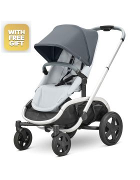 Quinny Hubb Graphite On Grey Stroller With Free Maxi-Cosi Cabriofix Car Seat
