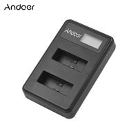 Andoer-Andoer LCD2-GOPRO5 Dual Battery Charger LCD C...