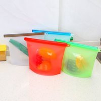 Anself-Silicone Storage Bags Reusable Food Bag Sandw...