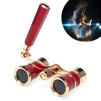 Tomshoo-3x25 Opera Glasses Lens Retro Metal Body Min...