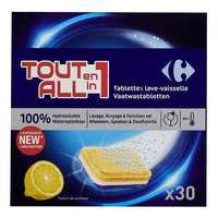 Carrefour Lemon Allin1 Dishwasher Tabs 15gX30...