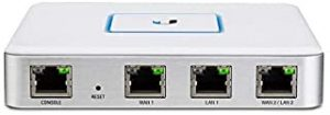 Ubiquiti USG Unifi Security Gateway [3 Gigabit Ethernet Ports] CLI Management for Advance Users [Integrated & Managed with Unifi Controller Software] Secure Off-Site Monitoring [Silent/Fan less] White