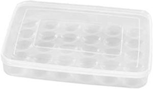 30 Grids Large Capacity Egg Shockproof Holder Plastic Egg Container with Cover Storage Box Tray for Refrigerator