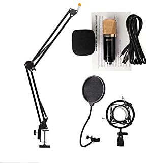 Audio Sound Recording Condenser Studio Microphone Bm700 Kit+ Mic Wind Screen Pop Filter + Fold Stand Holder For Singing