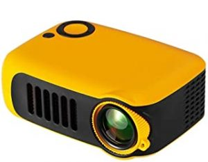 3D HD 1080P Small Portable Mini Home Theater Projector Multimedia Micro Video Player Player Yellow