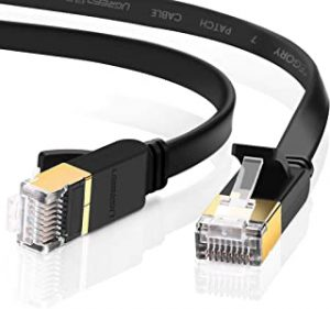 UGREEN Ethernet Cable Cat7 RJ45 Network Patch Cable Flat 10 Gigabit 600Mhz Lan Wire Cable Cord Shielded for Modem