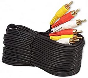50Ft RCA M/Mx3 Audio/Video Cable Gold Plated - Audio Video RCA Cable 50ft